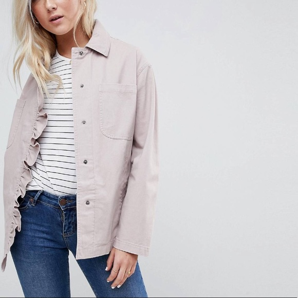 ASOS Jackets & Blazers - ASOS Jacket with Frill Detail